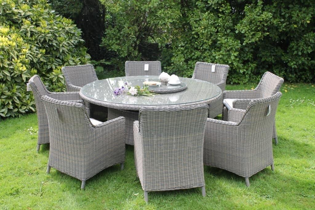 Al Fresco Living Sorrento - Juego de Mesa de Comedor y sillas de Ratán para Jardín y Patio, 8 Plazas: Amazon.es: Jardín