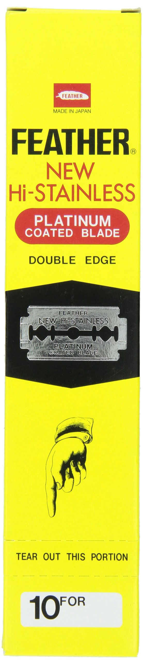 Feather Razor Blades New Hi-Stainless Double Edge, 200 Count