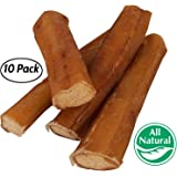 """5"""" Straight Bully Sticks for Dogs [LARGE THICKNESS] - All Natural & Odorless Bully Bones   Long Lasting Dog Chew Dental Treats   Best Thick Bullie Sticks for Dogs or Puppies   Grass-Fed Beef"""