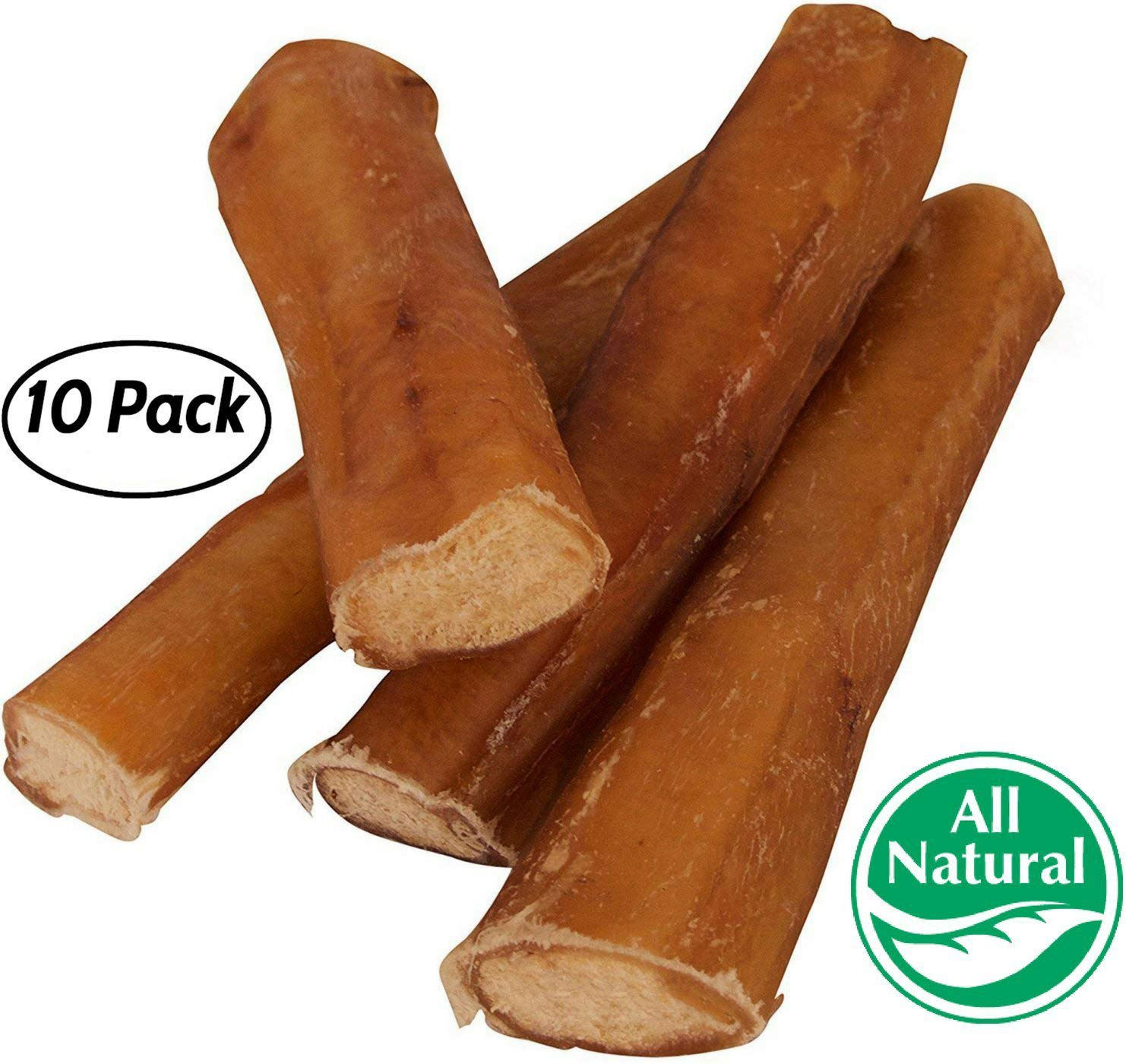 5'' Straight Bully Sticks for Dogs [Large Thickness] (10 Pack) - Natural Low Odor Bulk Dog Dental Treats, Best Thick Pizzle Chew Stix, 5 inch, Chemical Free