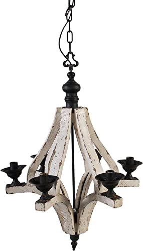 A B Home Wood and Metal Chandelier, 22.5 X 32.3-Inch