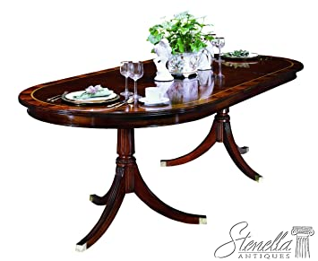 Charming Henkel Harris Model #2235 Banded Top Mahogany Dining Room Table ~ NEW