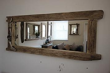 Sehr Großer Spiegel, künstlich gealtert, Treibholz, rustikal: Amazon ...