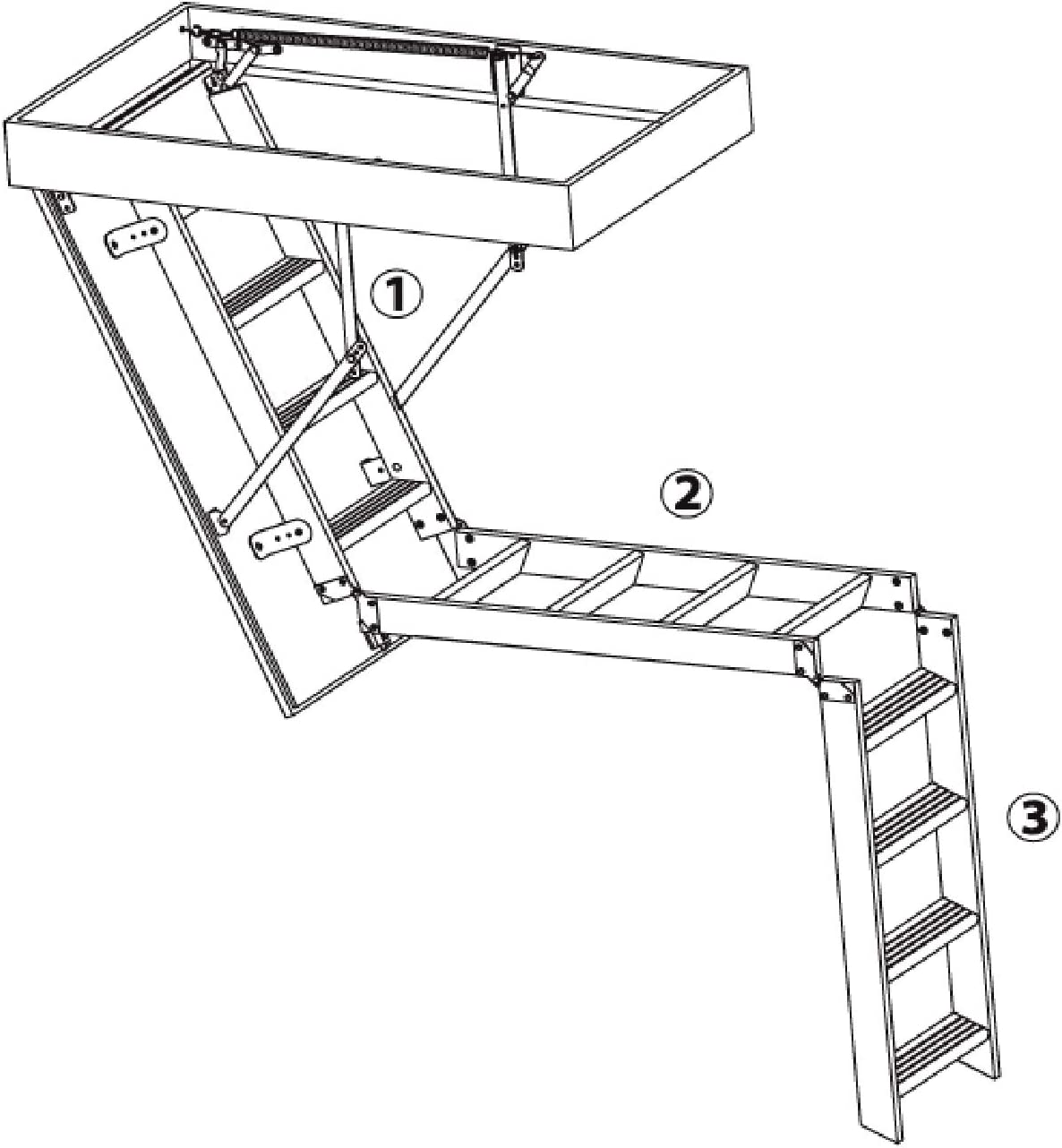 Bodentreppe PS Oman Thermo 120x55 Speichertreppe Treppe Handlauf