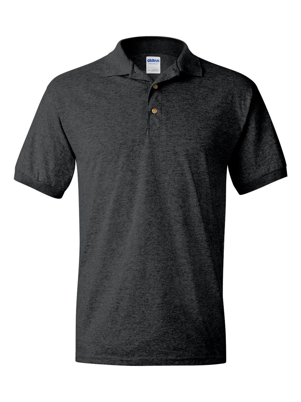Gildan 8800 - Classic Fit Adult Jersey Sport Shirt DryBlend - First Quality - Dark Heather - 2X-Large