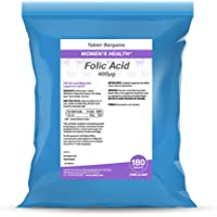 Folic Acid Simple & Light Range by Tablets Bargains (1 Pack - 180 Tablets)