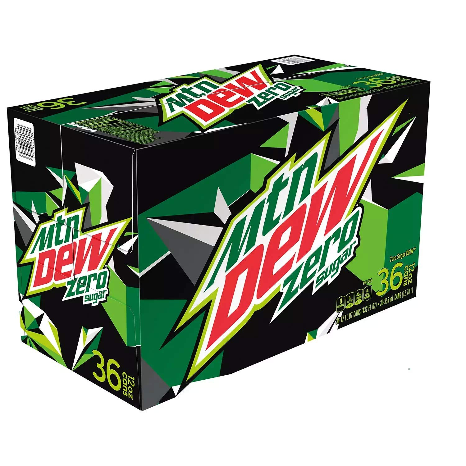 Mountain Dew Zero Sugar, 12 Ounce Cans (Pack of 36)