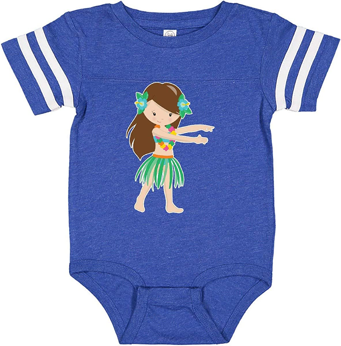 inktastic Brown Haired Hula Girl Infant Creeper