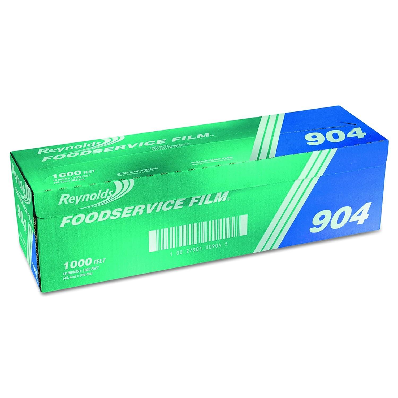 "Reynolds Wrap 904 PVC Film Roll w/Cutter Box, 18"" x 1000 ft, Clear"