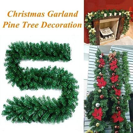 jufengliangyou christmas home decor 27m 220 branches christmas decorations ornaments xmas tree garland rattan - Amazon Christmas Home Decor