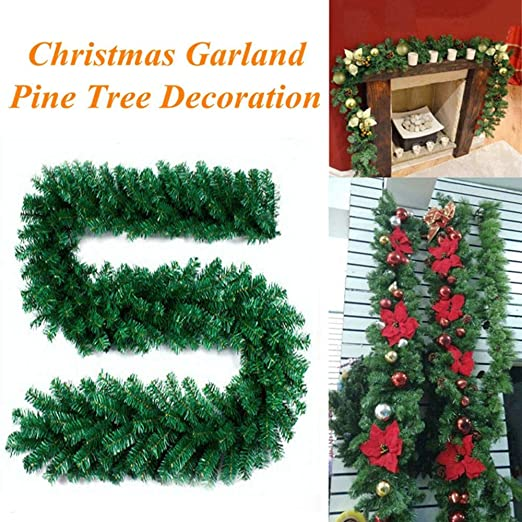 Bokeley-Christmas Rattan Garland 2.7M Branches Christmas Decorations  Ornaments Xmas Tree Garland Rattan Home - Amazon.com: Bokeley-Christmas Rattan Garland 2.7M Branches Christmas