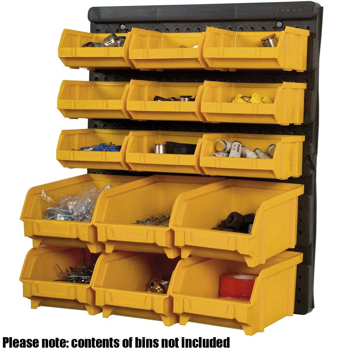 BiGDUG Plastic Wall Garage Storage Parts Bins Bin Kit, 385h X 323w Mm (15  Piece): Amazon.co.uk: Business, Industry U0026 Science