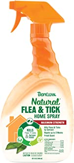 TropiClean Natural Flea & Tick Home Spray For Dogs, 32oz, Made