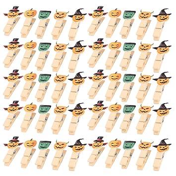 Amazon.de: sourcingmap 50pcs Halloween Holz Kürbis Design Handwerk ...