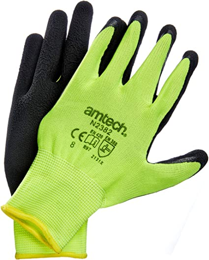 Size 8 Certified Quality for Heavy Duty Tasks Amtech N2377 Thermal Work Gloves Medium Hi-Vis Yellow