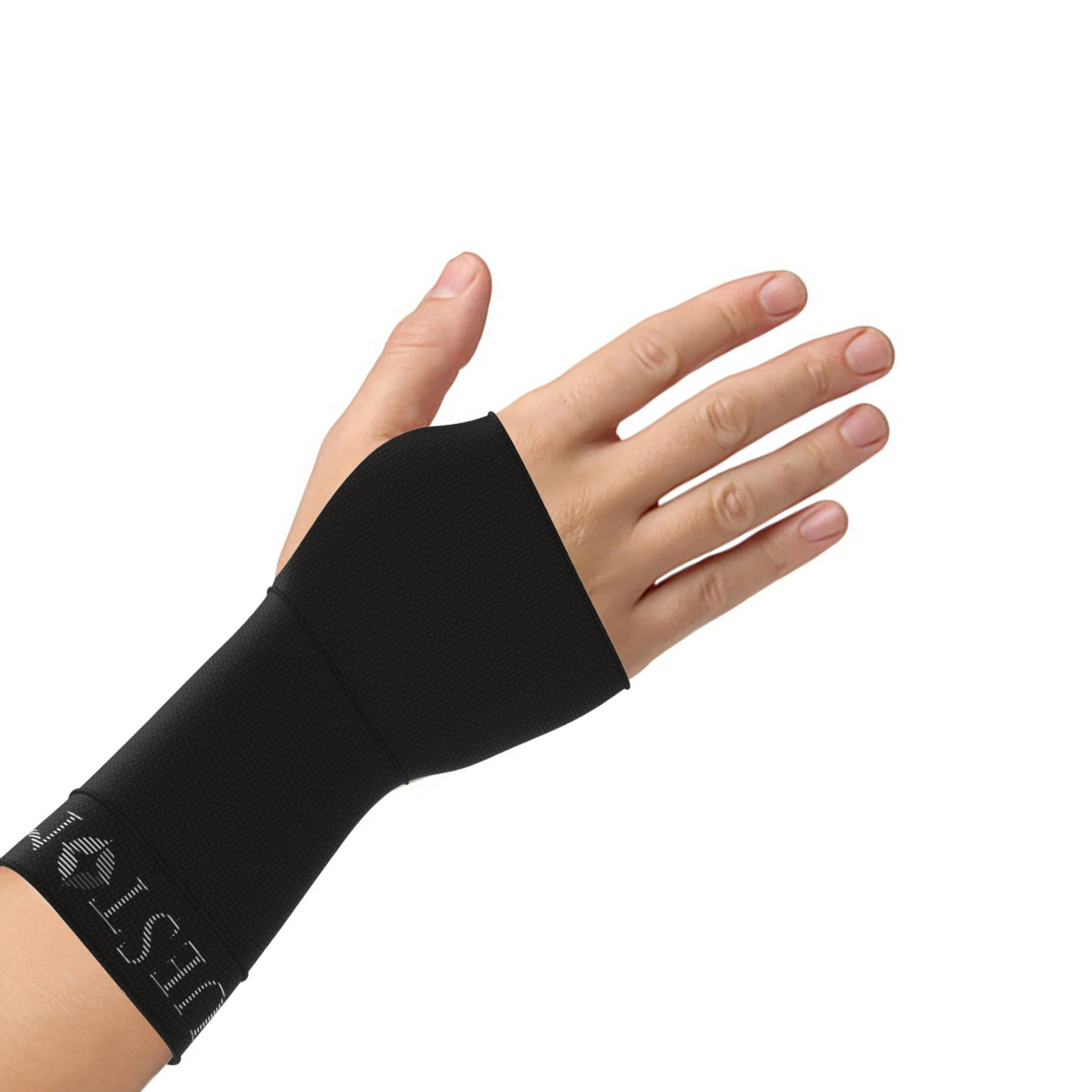 Bluestone Copper Wrist Support Compression Brace-Natural Pain Relief, Unisex, Anti-Microbial, Odor Control-For Yoga, Sports, Gym and More by (Small)