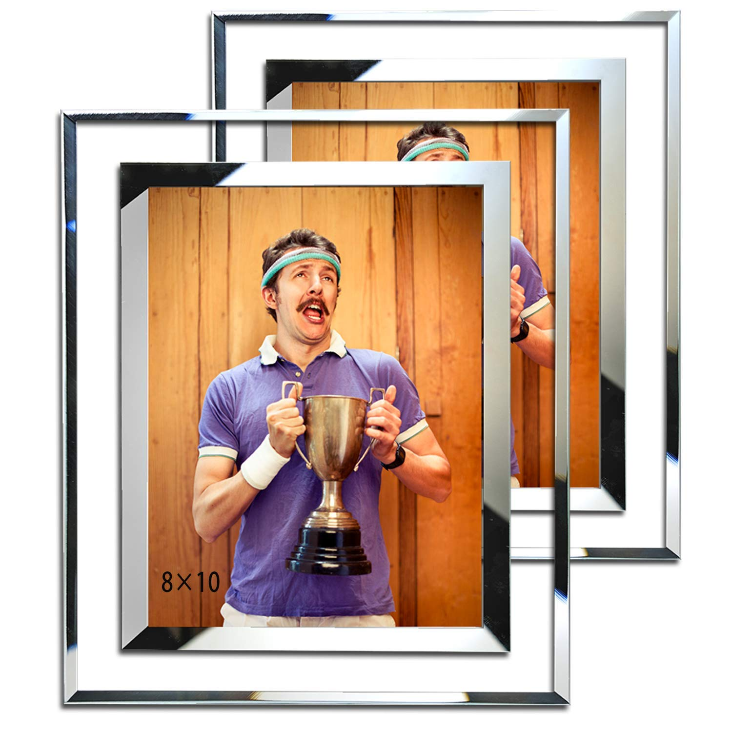 Simon's Shop 8x10 Picture Frame Glass Picture Frames 8x10 Wall and Tabletop Display Frame - 2 Pack by Simon's Shop