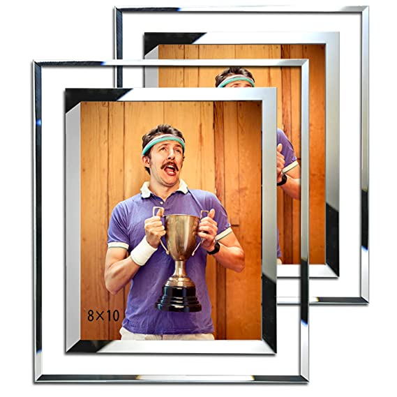 Simon's Shop 8x10 Picture Frame Glass Picture Frames 8x10 Wall And Tabletop Display Frame   2 Pack by Simon's Shop