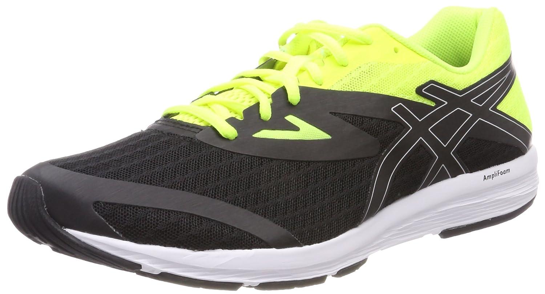 Asics Amplica, Zapatillas de Running para Hombre 48 EU|Negro (Black/Silver/Safety Yellow 9093)