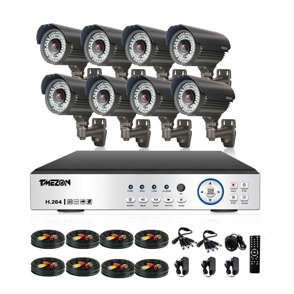 TMEZON AHD防犯カメラ8台 200万画素 赤外線LED72個 2.8-10MM調整可能レンズ&AHD 1080Pレコーダー(HDDなし) B01EAGFDZ6 カメラ8台+8ch 1080Pレコーダー(HDDなし) カメラ8台+8ch 1080Pレコーダー(HDDなし)