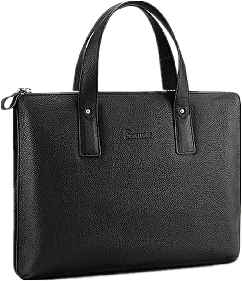 Mens Messenger Bag Mens Business Briefcase Vertical Mens Bags First Layer Cowhide Leather Casual Shoulder Bag Messenger Bag Suitable for Business Casual Laptop Bag Briefcase Satchel Bag