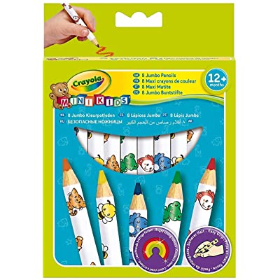 Crayola Beginnings Jumbo Decorated Pencils (8 Pack): Toys & Games