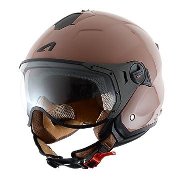 Astone Helmets MINISPORT-COM Minijet Sport - Casco de motocicleta, Café Brillante, M