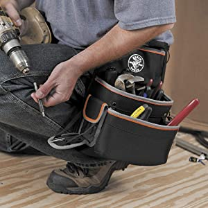 Tradesman Pro Electrician's Tool Belt, Large Klein Tools 55428 (Tamaño: Large)