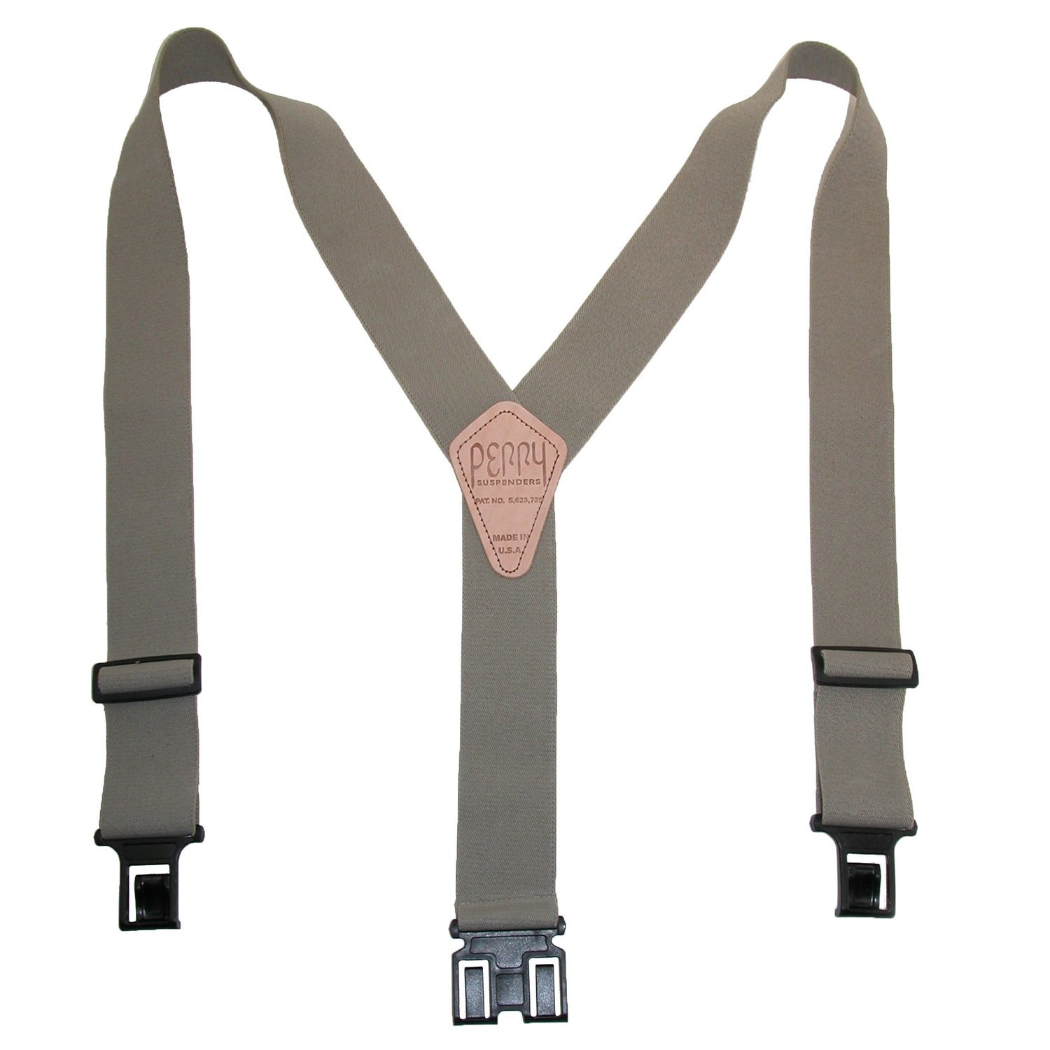 Perry Products SN200 Men's Clip-On 2-in Suspenders Black Perry Suspenders