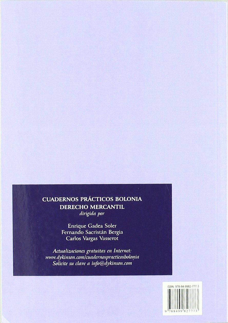 Cuadernos practicos Bolonia / Bologna workbooks: Derecho Mercantil. Contratacion Bancaria / Commercial Law. Banking Agreements (Spanish Edition): Fernando ...