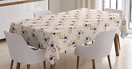 Ambesonne Alice in Wonderland Decorations Tablecloth, White Rabbit Dancing  in the Sky Fantasy World Alice Wonderland, Rectangular Table Cover for ...