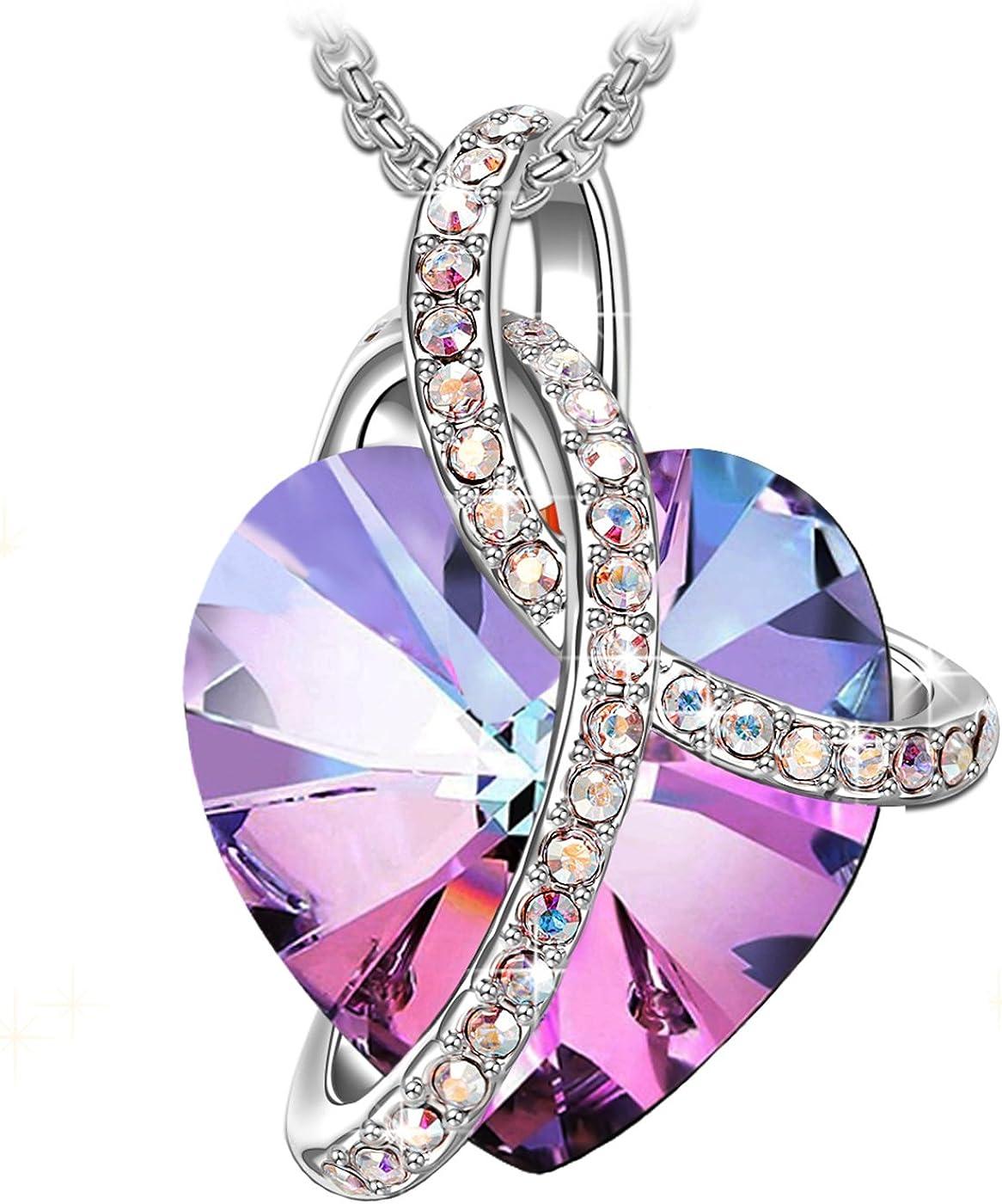 J.RENEÉ Amor Corazon Collares, con Cristal de Swarovski, Joyas para Mujer, Colgantes Mujer, Regalos para Mujer