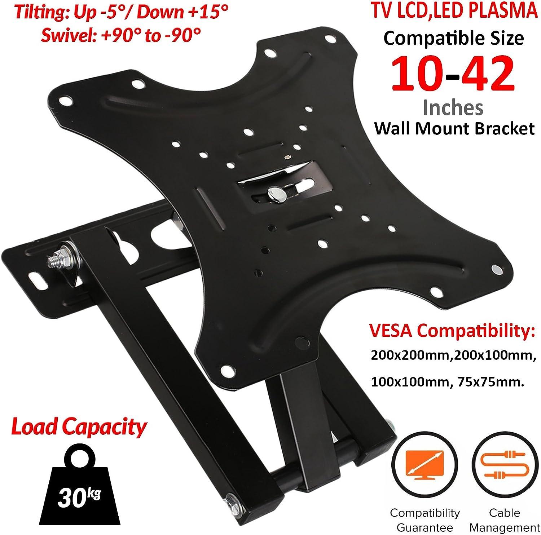 """TV Wall Bracket Mount Swivel Tilt 10 14 21 23 26 32 37 40 42/"""" Plasma 3D LED LCD"""