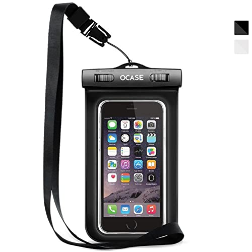 OCASE Waterproof Phone Case, Universal Waterproof Bag Dry Bag With Neck Strap for Apple 6 6S, 6S Plus, SE 5S, Samsung S7 Edge, S6, Note 5, HTC LG Sony Nokia Motorola - Black