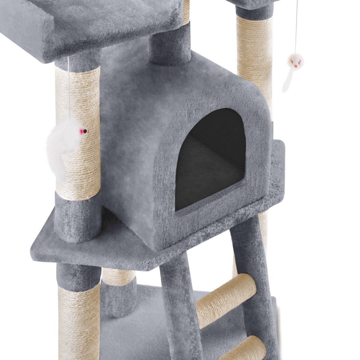 Mc Haus MAA1160C Árbol Rascador para Gatos con Nido Plataforma y ...