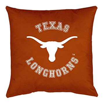 Amazon university of texas longhorns throw bed pillow 18 x university of texas longhorns throw bed pillow 18 x 18 sciox Images