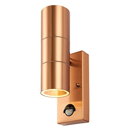 dc95afe5c59a Palin PowerSave Up/Down Dual Illumination Wall Spot Lights with PIR Motion  Sensor (Copper): Amazon.co.uk: Kitchen & Home