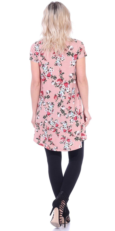 Popana Womens Tunic Tops for Leggings Short Sleeve Summer Shirt Made in USA 3X ST73