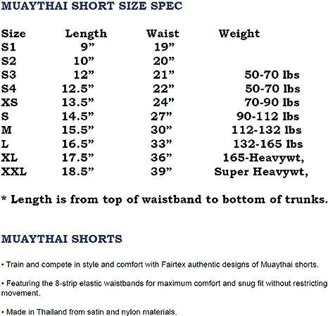FAIRTEX MUAY THAI KICK BOXING  SATIN SHORTS BS205 THAI FONT WOMEN CUT MMA K1