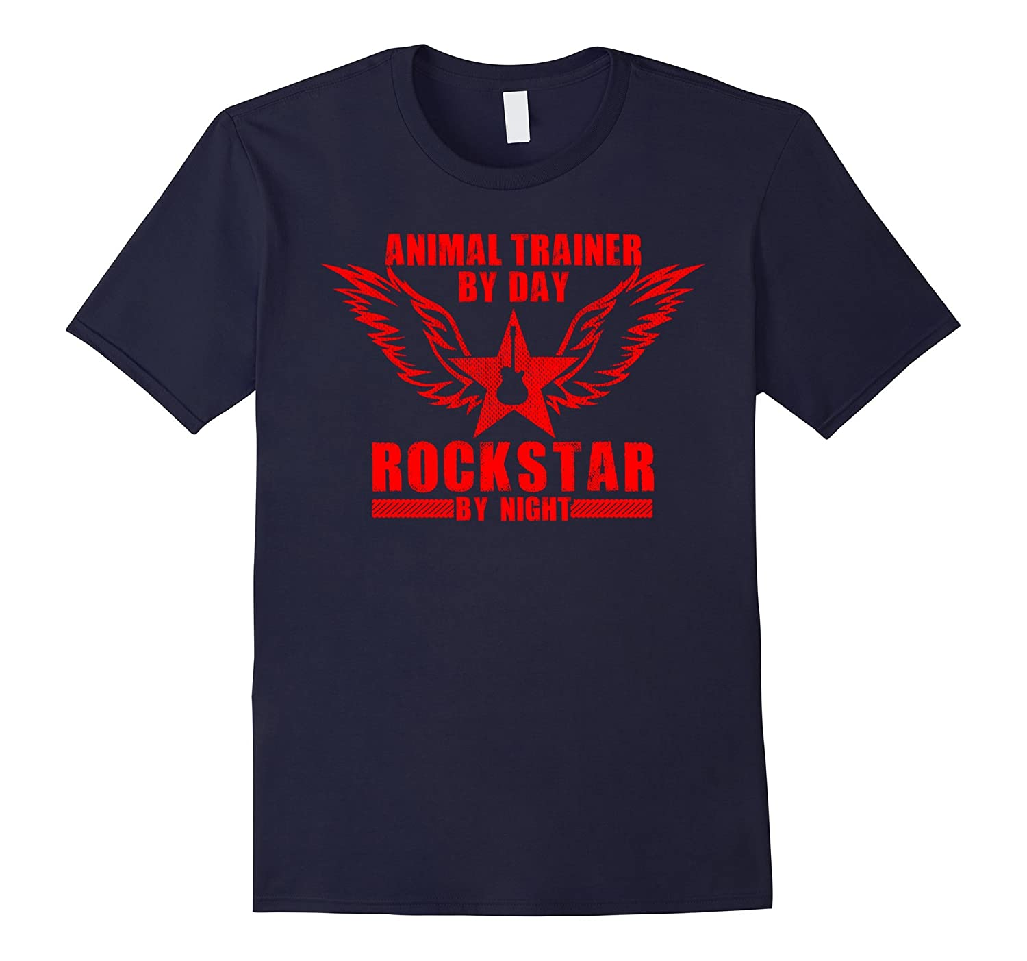 Animal Trainer by Day / Rockstar by Night T-Shirt (Red)-Art
