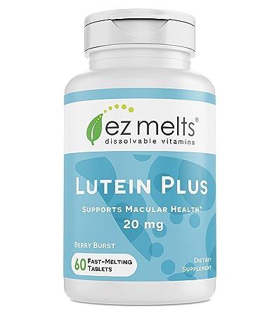 Amazon Com Ez Melts Lutein Plus With Zeaxanthin And Zinc 20 Mg