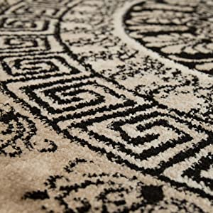 Paco Home Tapis De Créateur Poils Ras Salon Chiné Motif De Formes Géométriques Brun, Dimension:160x230 cm