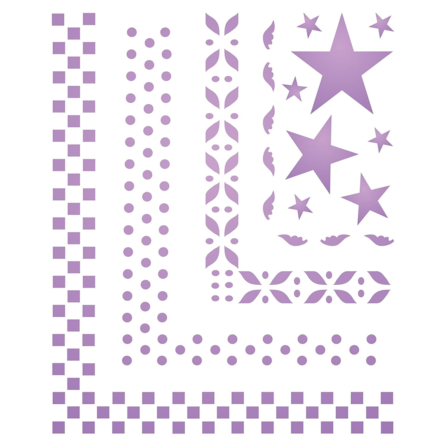Borders Scrapbooking Stencil Size 4 1 H X 3 3 W Reusable Stencils For Painting Best Quality Wall Art D Cor Ideas Use On Paper Projects Walls Floors Fabrics Glass Wood Cards And More