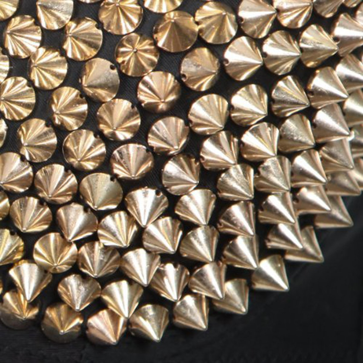 DIY Garments Beads Glue On Paradise Kiss Approx 100pcs 10mm Gold Acrylic Bullet Spike Cone Studs Gold100 Bags /& Shoes Embellishment Sew On Stick On