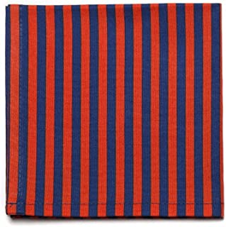 product image for Striped Pocket Square- Navy/Red