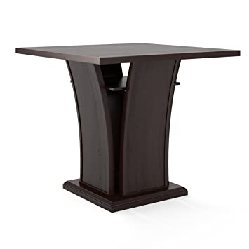 corliving t bistro dwp 390 t bistro 36 counter height wood square dining - Kitchen Table Height