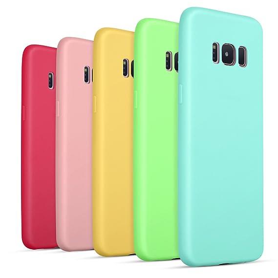 Galaxy S8 Case, Pofesun Ultra [Slim Thin] Flexible TPU Gel Rubber Soft Skin Silicone Protective Case Cover For Samsung Galaxy S8, 5 Pack