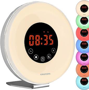 Grundig Radio réveil LED avec radio et diffusion de lever du
