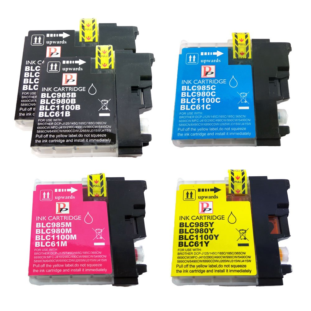 PerfectPrint - 5 PefectPrint Compatible cartucho de tinta para impresora Brother MFC J220 J265W J410 J415W J615W DCP J125 J315W J515W