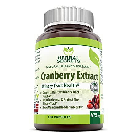 Herbal Secrets Cranberry Extract 475 Mg 120 Capsules